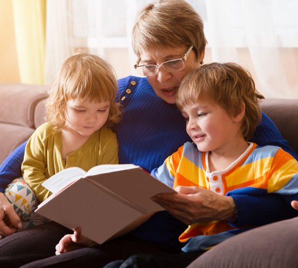 reading book to grandchilds